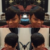 #3314255 MZ. KELLY(Hair Stylist & Essations Educator) Specialize in short styles & healthy hair's Appointment Photo taken in Kreative Touch @ Sophia Brandon Salon Boutique, Richton Park