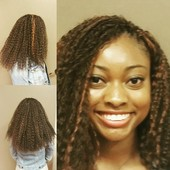 Crochet braids using Freetress Brazilian braids