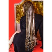B Braids (Formation) Hair: Debra Hare-Bey, Red Room Luxe Salon @ OMhh, Model & Makeup: Amber-Jade E. Hare-Bey, Photo: Nay Marie Photography, Location: The OMhh Store Bench